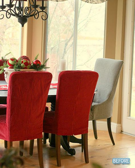 Slipcover Groove Queen Anne Dining Room Chair Slipcovers