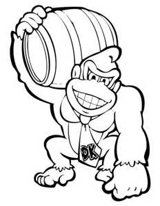 Donkey Kong Coloring Super Mario Coloring Pages Coloring Pages Mario Coloring Pages