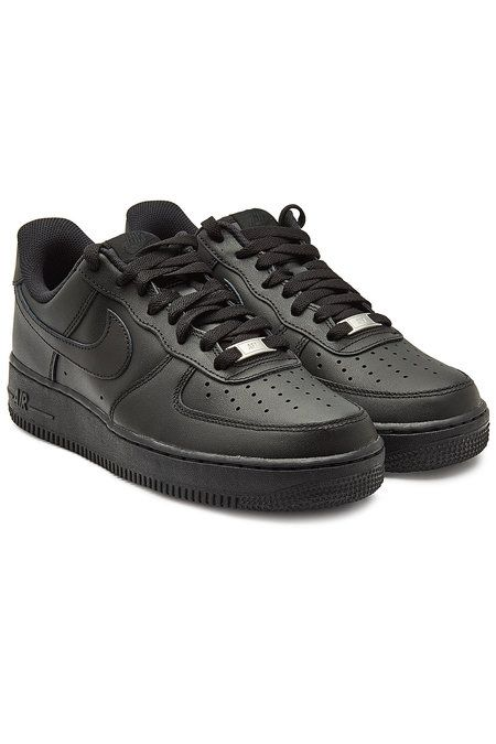 Nike - Air Force 1 '07 Leather Sneakers - black | Zapatillas ...