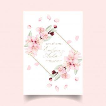 de mariage avec des fleurs de cerisier
