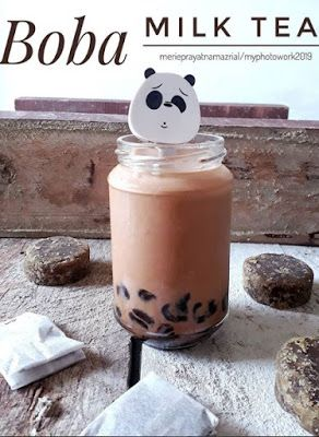 Boba Milk Tea Resep Minuman Resep Masakan Resep