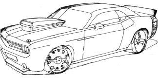 Coloriage Voiture Fast And Furious In 2020 Cars Coloring Pages