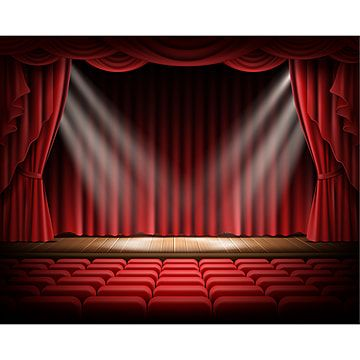 Red Curtain And Empty Theatrical Scene Stage Red Curtain Png And Vector With Transparent Background For Free Download Red Curtains Curtains Stage Curtains