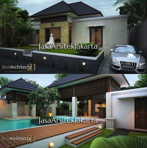 desain rumah minimalis dengan villa gaya bali modern