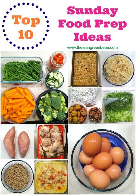 Top 10 Foods for Sunday Food Prep
