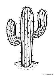 Image Result For Black And White Clip Art Of A Cactus Cacto Do Deserto Desenho Cacto