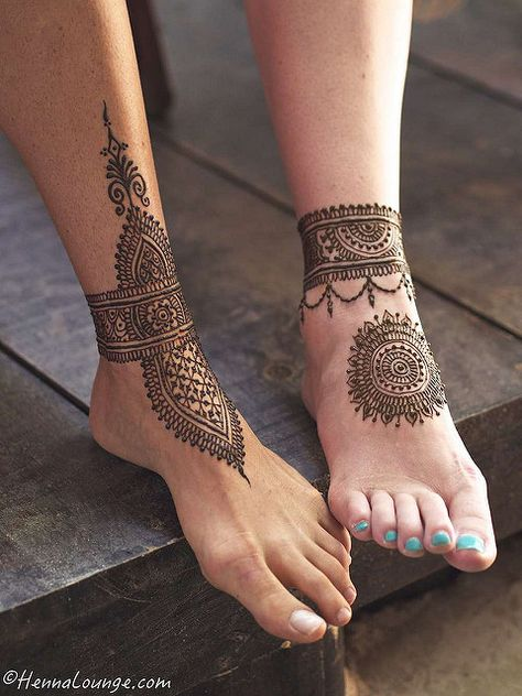Looking for the Best Henna Designs? Looking for the Best Henna Designs?,Unique Mehndi Trends Henna is the most traditional part of weddings throughout India. Mehndi Tattoo, Henna Tattoo Designs, Henna Designs Feet, Anklet Tattoos, Bridal Henna Designs, Foot Tattoos, Mandala Tattoo, Henna Mandala, Bridal Mehndi