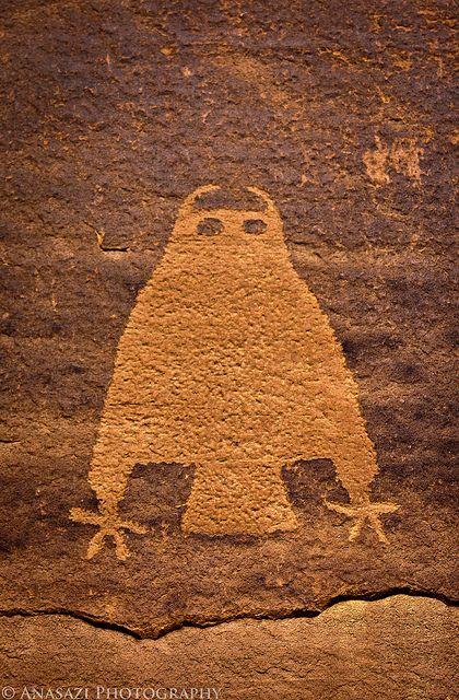 The Owl.  Anazasi art from SW U.S.