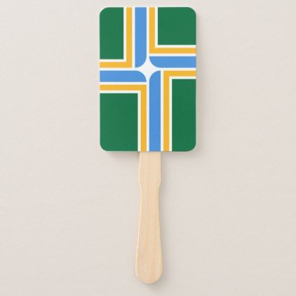 Patriotic Set Of Hand Fans With Flag Of Portland Zazzle Com Birthday Party Supplies Hand Fan Graduation Gifts