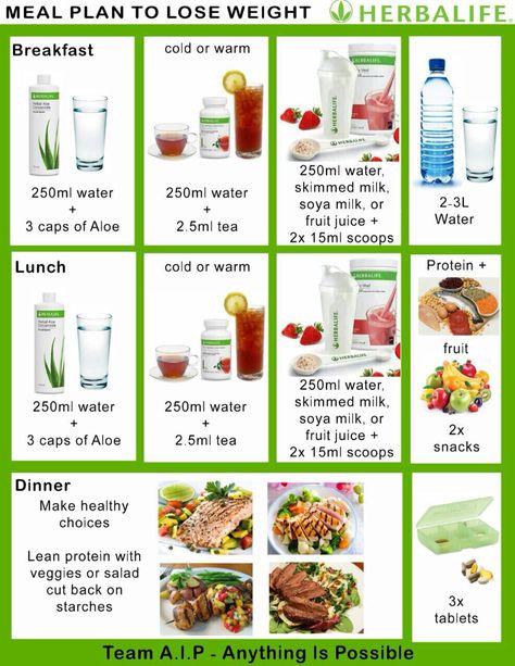 Herbalife meal plan