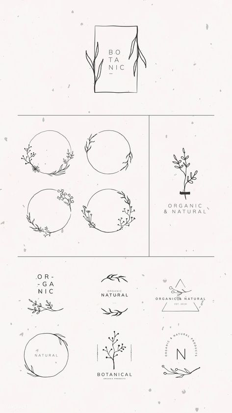 Organic product brand logo vector collection | premium image by rawpixel.com / sasi #vector #vectoart #digitalpainting #digitalartist #garphicdesign #sketch #digitaldrawing #doodle #illustrator #digitalillustration #modernart #frame