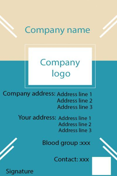 Id Card Twentythree Back  Id Card Template    Card