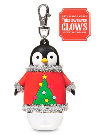 Christmas Penguin Light Up Pocketbac Holder Bath Body Works
