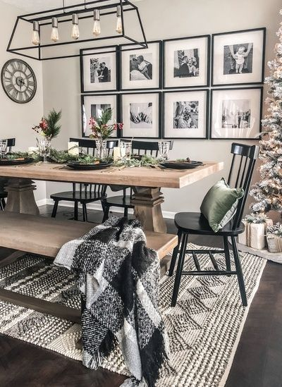 Best Dining Room Wall Decor Ideas 2018 (Modern & Contemporary) - Home decor . Best Dining Room Wall Decor Ideas 2018 (Modern & Contemporary) - Home decor ideas - Dining Room Wall Decor, Dining Room Design, Decor Room, Dining Room Picture Wall, Dinning Room Ideas, Dining Room Inspiration, Dinning Room Rugs, Dining Area, Lighting For Dining Room