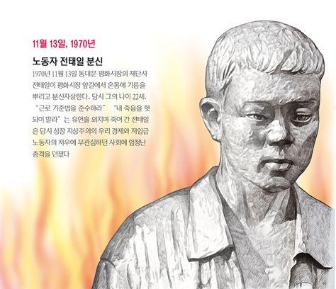[오늘의 역사] 노동자 전태일 분신