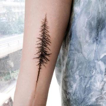 20 Tatuajes de pinos en el brazo