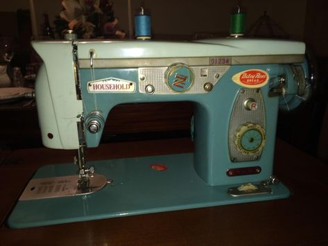 Very Rare antique Working Retro Vintage Household Sewing Machine Zig Zag - Model 920 - built in oak sewing table