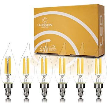 Led Vintage Candelabra Light Bulbs 6 Edison Filament Flame Tip 4 Watt Dimmable Ul Listed 400 Lumen Warm 27 Candelabra Light Bulb Candelabra Bulbs