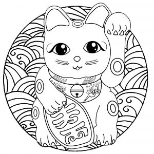 Maneki Neko For Kids Maneki Neko Coloring Pages For Kids Just