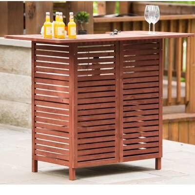 Cambron Caster Bar Serving Cart Reviews Joss Main In 2020 Patio Bar Table Outdoor Wooden Bar Outdoor Bar