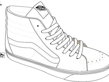 Sk8hi Official Templates Straight From Vans Designers Va Flickr Sneaker Art Sneakers Drawing Sneakers Illustration