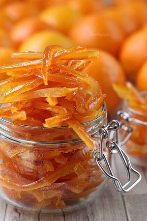 Cómo Hacer Cáscaras De Naranja Confitadas Caseras Cascara De Naranja Confitada Recetas Con Naranjas Naranja Confitada