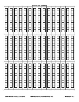 Printable Base Ten Blocks Base Ten Blocks Base Ten Base 10 Blocks