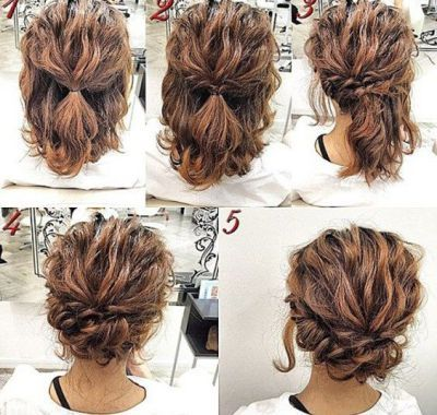 Easy Bridal Hairstyles For Short Hair Simple Prom Hair Hair Styles Short Hair Styles