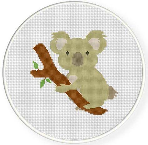 Koala bear cross stitch Pattern PDF Modern Home cross stitch Camping cross stitch pattern PDF Instant download