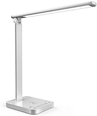 Amazon Com Smart Led Desk Lamp With Wireless Charger App Voice Remote Control Desk Light Touch Control Adjustable In 2020 Led Desk Lamp Desk Light Home Improvement