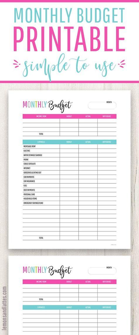 2019 budget binder saving money