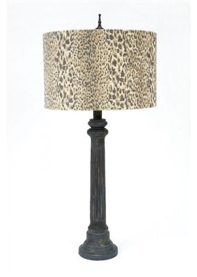 Gallery Designs Lighting Beige Grey Leopard Animal Print Shade