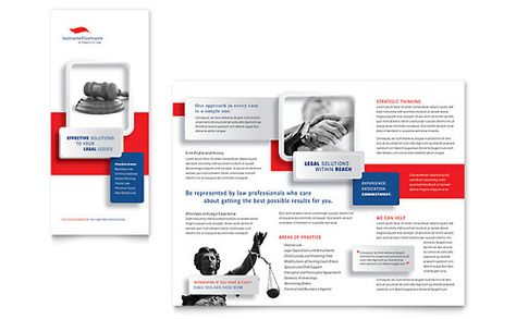 Justice Legal Services Brochure Template by @StockLayouts - religious brochure