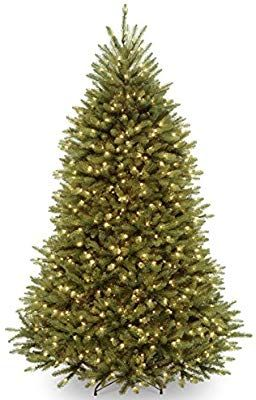 Amazon Com National Tree 7 5 Foot Dunhill Fir Tree With 750 Clear Slim Artificial Christmas Trees Best Artificial Christmas Trees Christmas Tree Clear Lights