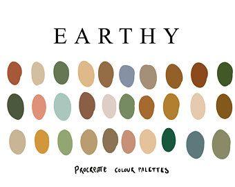 Autumn Procreate Palette 30 Colours Colors In 2020 Earthy Color Palette Procreate Palette