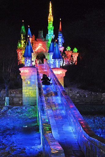 Ice slide @ Harbin China International Ice and Snow festival