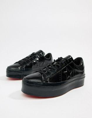 grand assortiment sensation de confort texture nette Converse One Star platform ox black sneakers | Lewks on ...