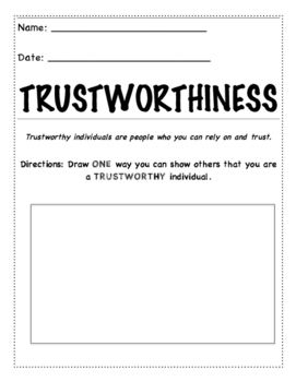 41++ Character education worksheets Live