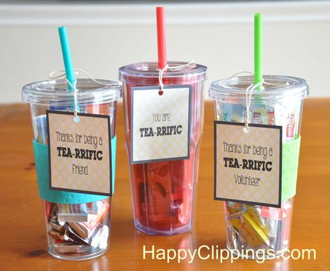 Thanks for Being TEA-rrific Gift Idea – Free Printable   HappyClippings.com