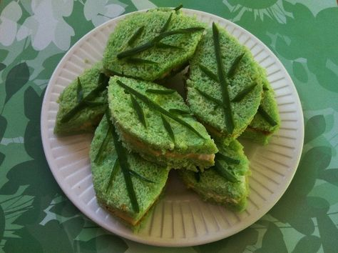 Leaf Sandwiches... and other great garden party food!