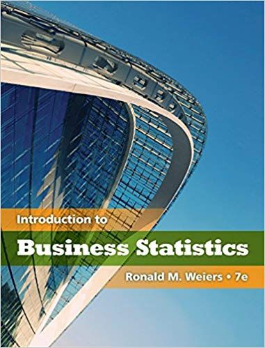 solution manual for Introduction to Business Statistics 7th Edition
