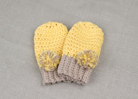 0b5711d979ff FREE PATTERN  How To Crochet Baby Mittens – Croby Patterns