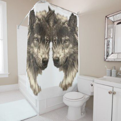 Shower Curtain Wolf Zazzle Com Shower Curtain Home Gifts