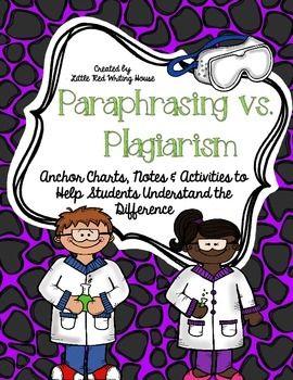 Paraphrasing V Plagiarism Flap Book Anchor Chart Paraphrase Don T Plagiarize