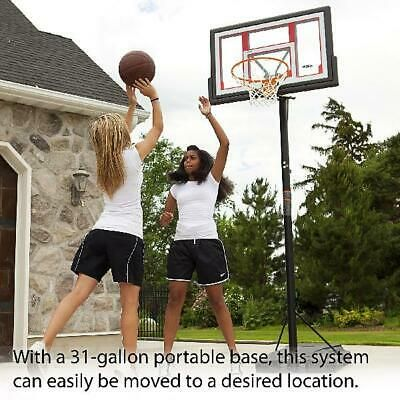 Portable Basketball Hoop Goal Outdoor 48 In Adjustable Backboard Pole In 2020 Portable Basketball Hoop Basketball Systems Basketball Hoop