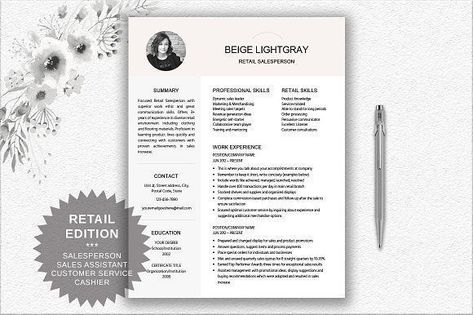 Resume Template Retail Salesperson by DocumentFolder on - salesperson cover letter