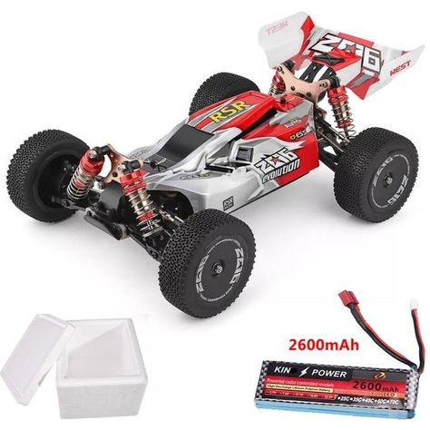 1/14 RTR 2.4 GHz RC Drift Racing Car 4WD Metal Chassis/Shaft Ball Bearing Gears/Hydraulic Shock Absober - red 2600mAh