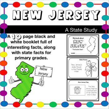 New Jersey Fact Booklet A State Study For Elementary With Images