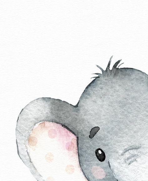 Impresión de elefante arte de la pared de la habitación de | Etsy