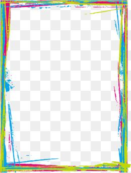 Colored Border Hand Painted Frame Graffiti Png And Vector With Transparent Background For Free Download Hand Painted Frames Scrapbook Frames Hand Painted